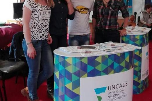 Parte del equipo de UNCAUS Virtual en Expo AGRO NEA 2017