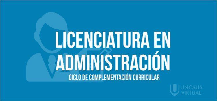 LICENCIATURA EN ADMINISTRACIÓN – CCC